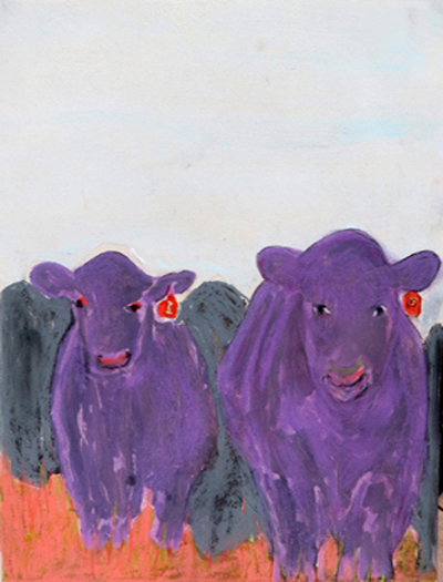 Purple Cow-Purple Bull by Susanne Vincent
