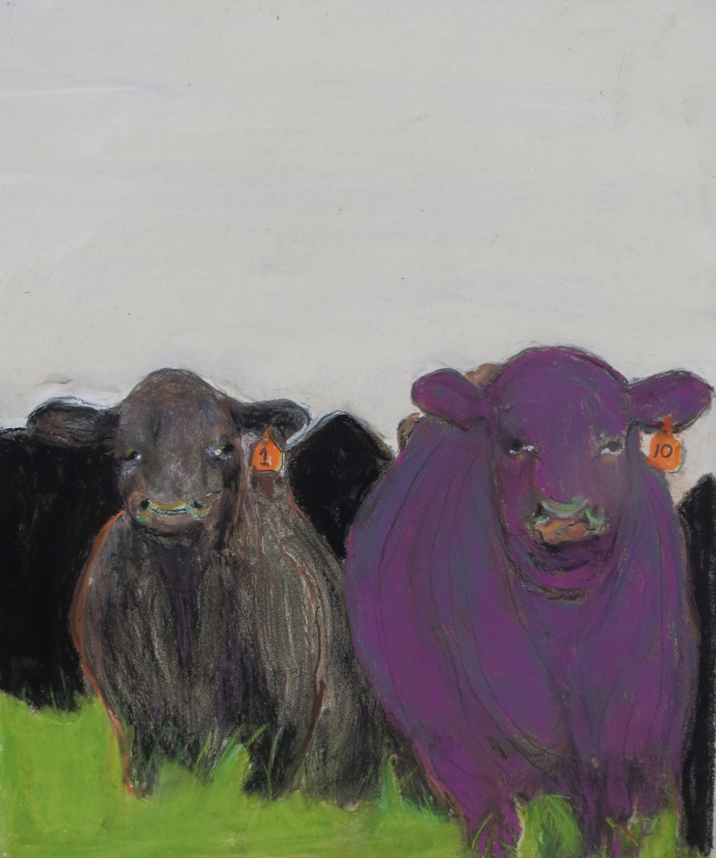 Black Cow-Purple Bull by Susanne Vincent