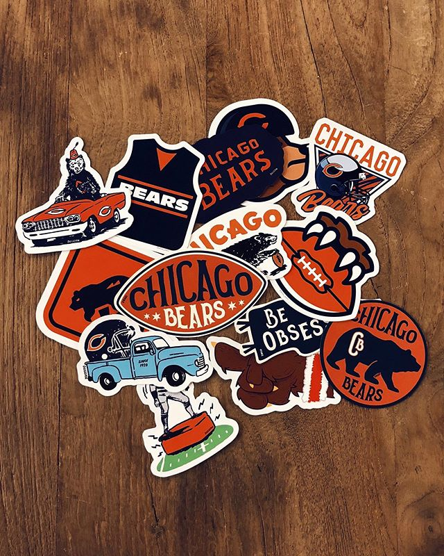0.001% confident the reason they went from worst to first was this RAD sticker set we created for the @chicagobears this season. About to print 45,000 more so apologies in advance if the city looks like the inside of a middle school teen's locker #clubdub  And also 🐻⬇️