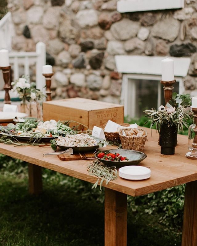 Our tables look and function real nice for a buffet or display table! We're still running our giveaway from a few posts back, so check it out to enter! 🖤