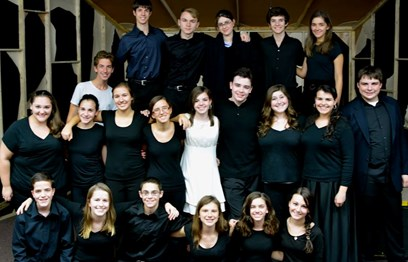 Cast picture of the student-written holocaust drama Echoes, my first lead performance