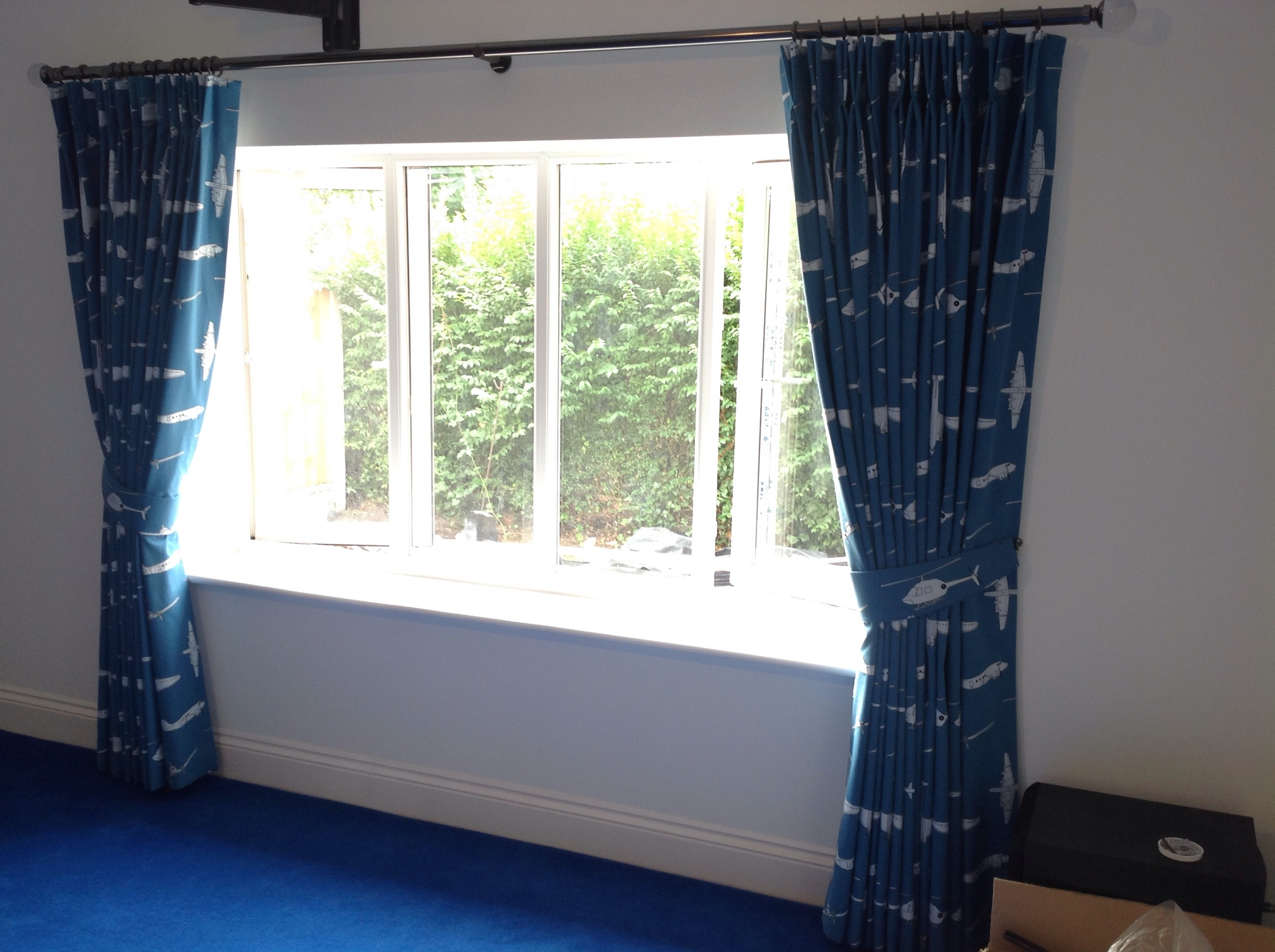 Playroom curtains