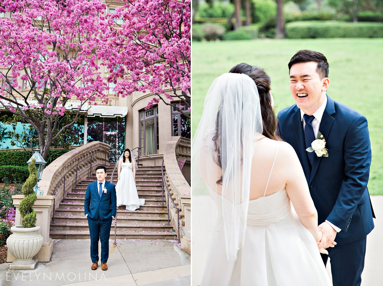Wedding First Look - Langham Pasadena Wedding-1.jpg