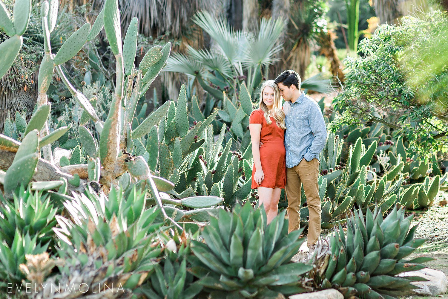 Cactus Garden San Diego Engagement Session Ivy And Bryan Part