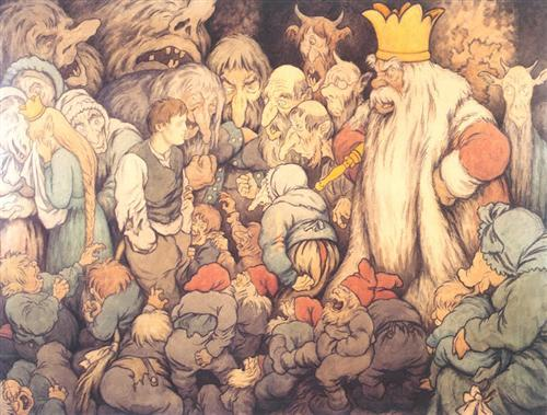 Peer Gynt in the Hall of the Mountain King.   Theodor Severin Kittelson (1890)