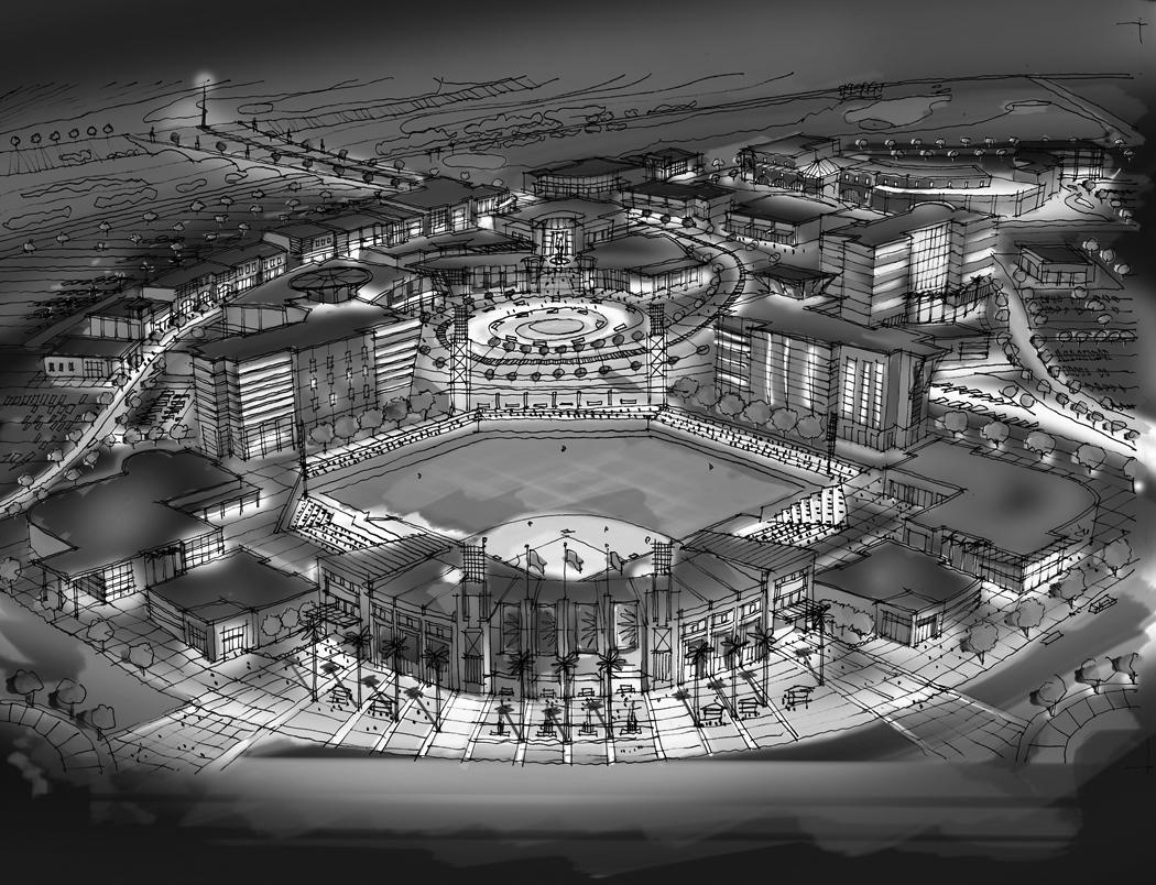 Dodgers + White Sox Stadium  (Mixed Use, ~1,600,000 Sq Ft)