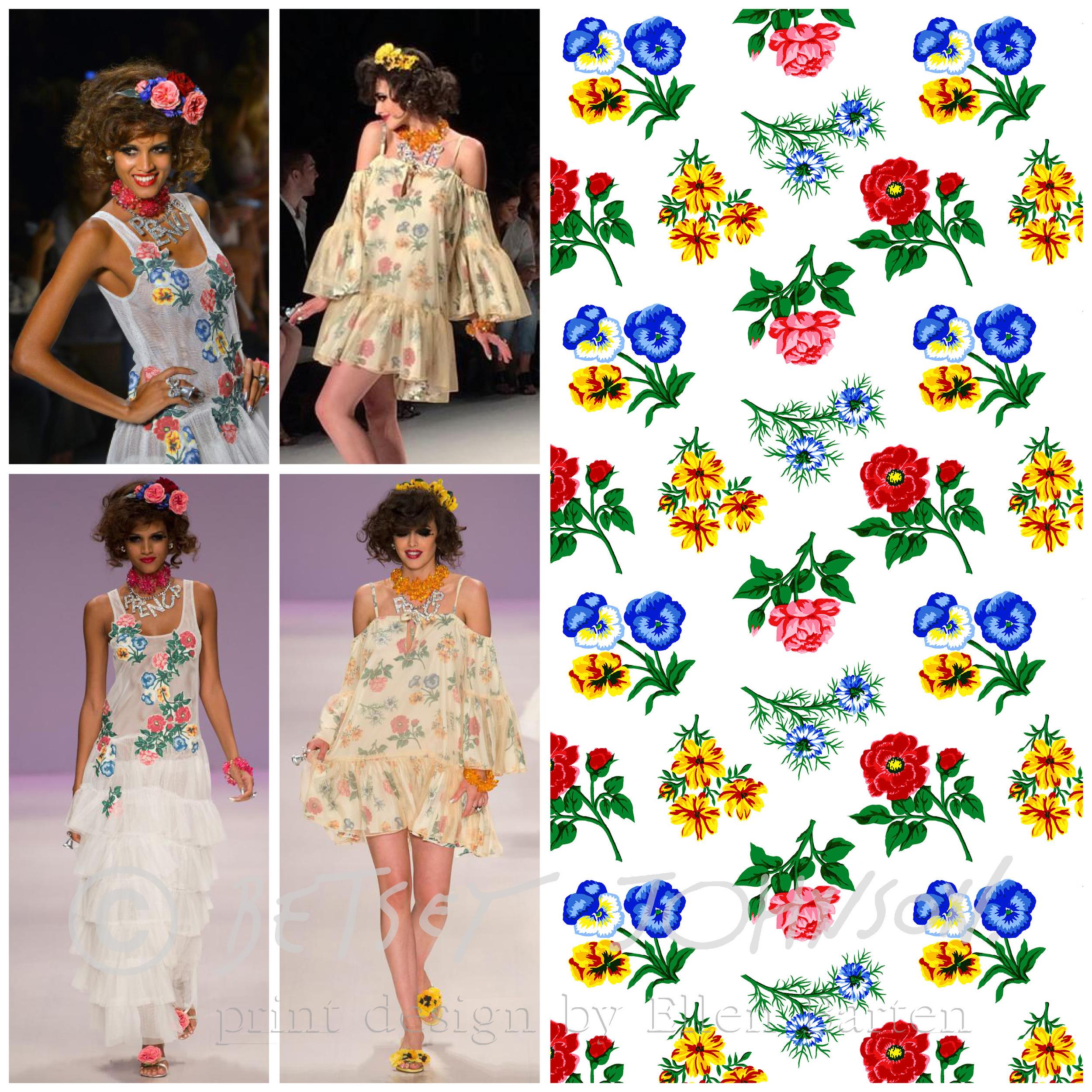 """Spring 2015 """"Prenup"""" show- Varied Floral Print"""