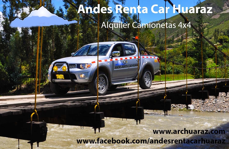 Alquilar camionetas Huaraz
