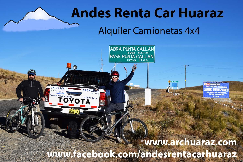 Alquilar coches Huaraz