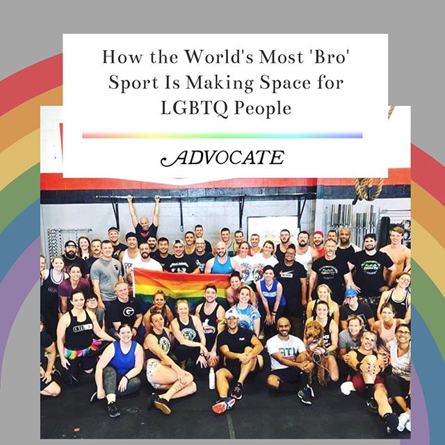 """I fucking want you here... that doesn't make me a fucking hero, by the way, it's just basic human decency."" - Greg Glassman, founder of CrossFit, in response to how he views inclusion in CrossFit for the LGBTQ+ community. . It takes a village to move the needle just one tick. There are those who have been fighting the fight long before me and I hope that our work inspires much much more. . The most massive of thanks to @alyssaroyse, without whom none of our work with CrossFit would have been possible. She's the firecracker who started this fight with the first bang. Thanks to @amypistol for bringing @chlojonsson into my life and giving me one of my best friends in the world and someone who I'll continue to fight for forever. And to all of the other shoulders we stand on...you made this possible. I hope you're proud of our work. . Read more on how The Worlds Most 'Bro' Sport Is Making Space For LGBTQ+ People — click the link in @outwod bio!"