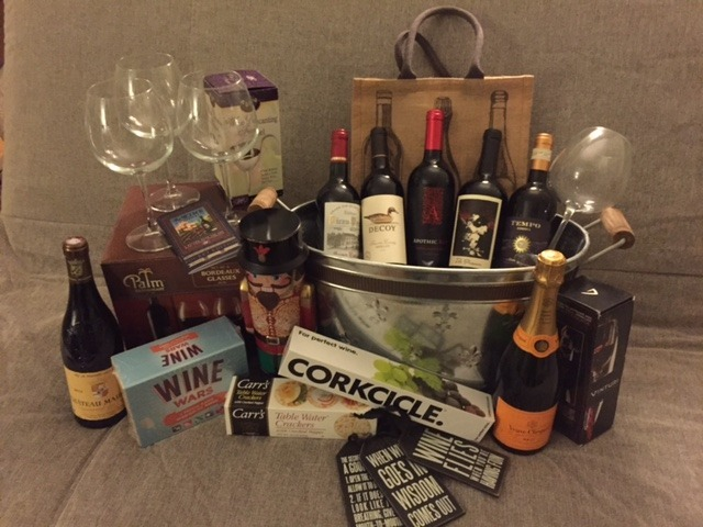 "Freshman Class ""Wonderful Wine"" basket had a bidding war that ended at $335!"