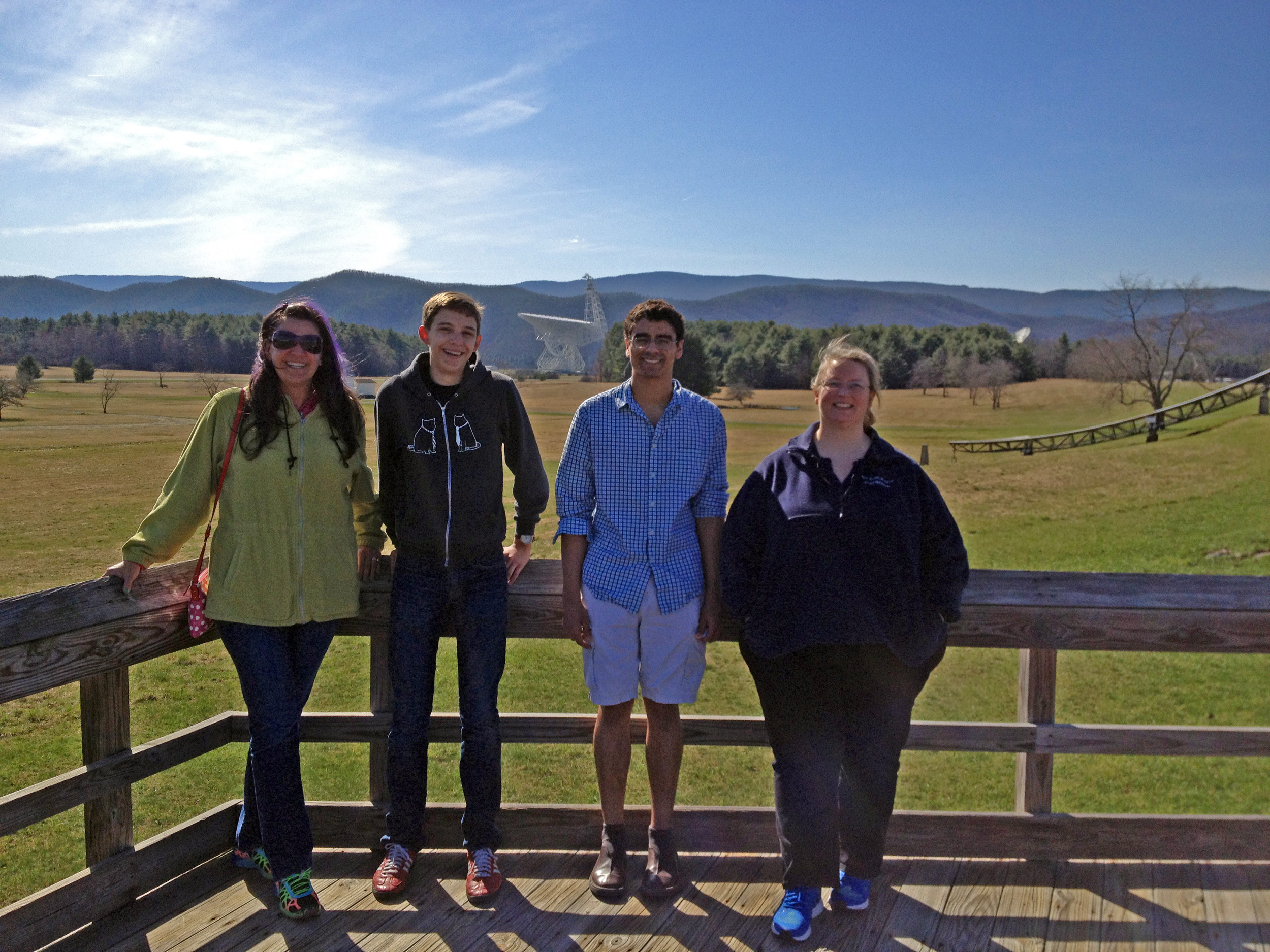 Thanks to parent Melissa Dana for driving and hanging out with us all weekend at the NRAO in Greenbank, West Virginia