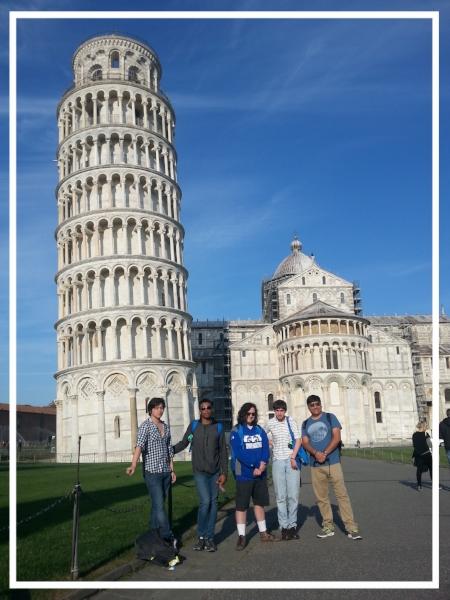 The Piazza dei Miracoli in Pisa,Tuscany,Italy