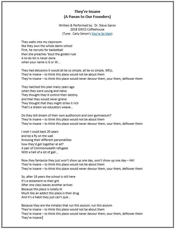 coffeehouse Theyr're Insane Lyrics.JPG