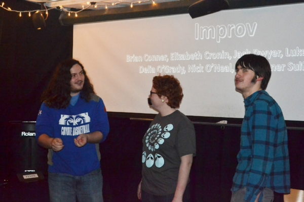 Luke, Delia and Nick - Improv Players