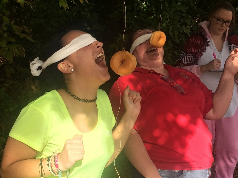 Dangling Donuts Eating Contest