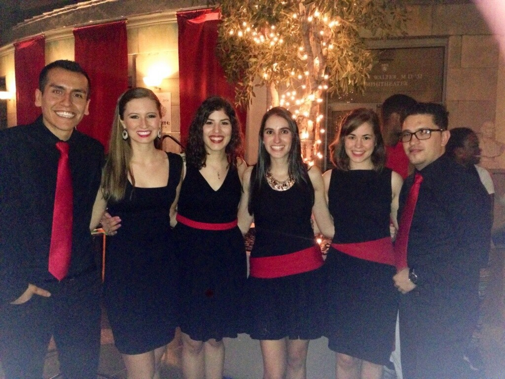 After performing a Latin Dance in the Harvard Medical Atrium with my classmates