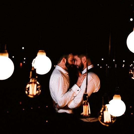 Luiz e Marcelo no dia do casamento