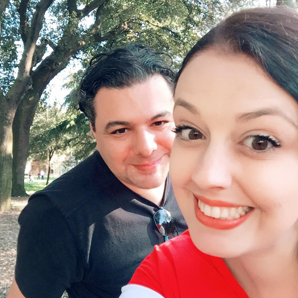 Natália e Leandro em um Dia da Nah