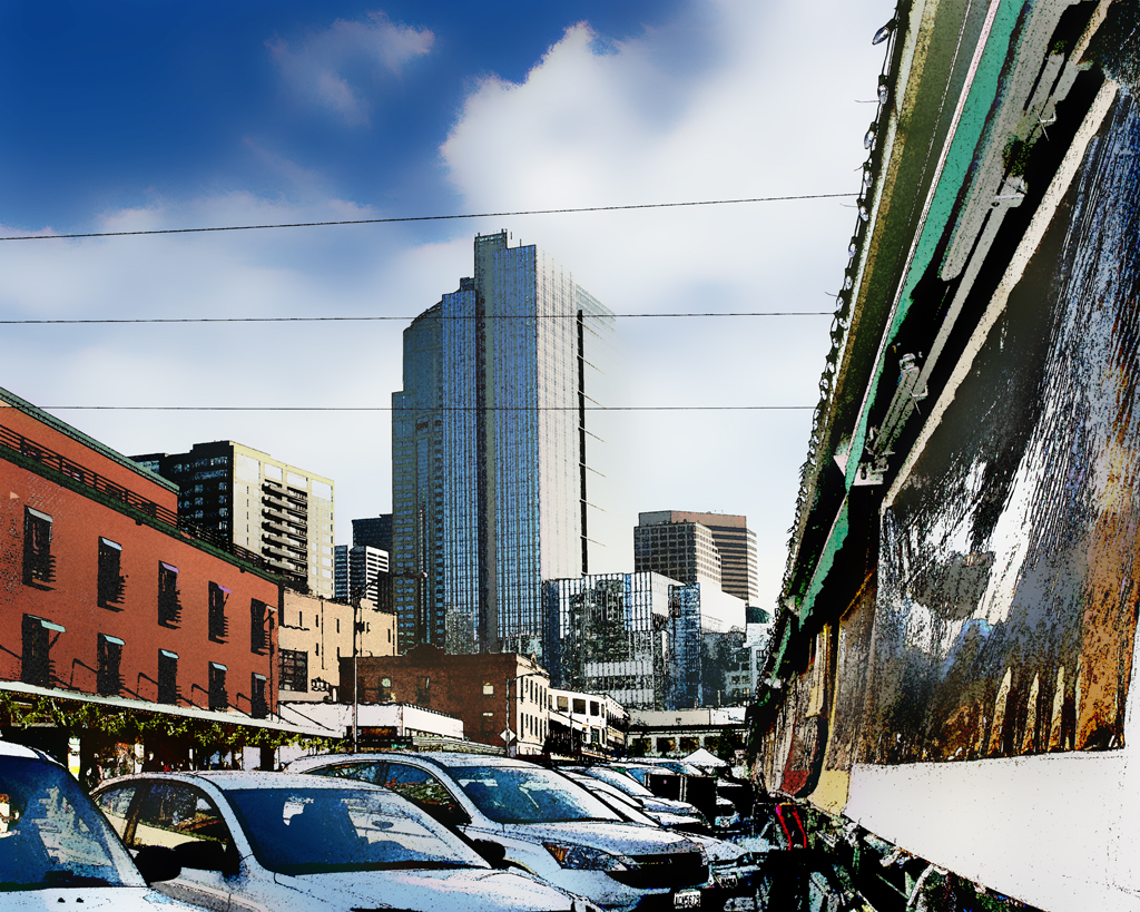 A View of Seattle from Pikes Market