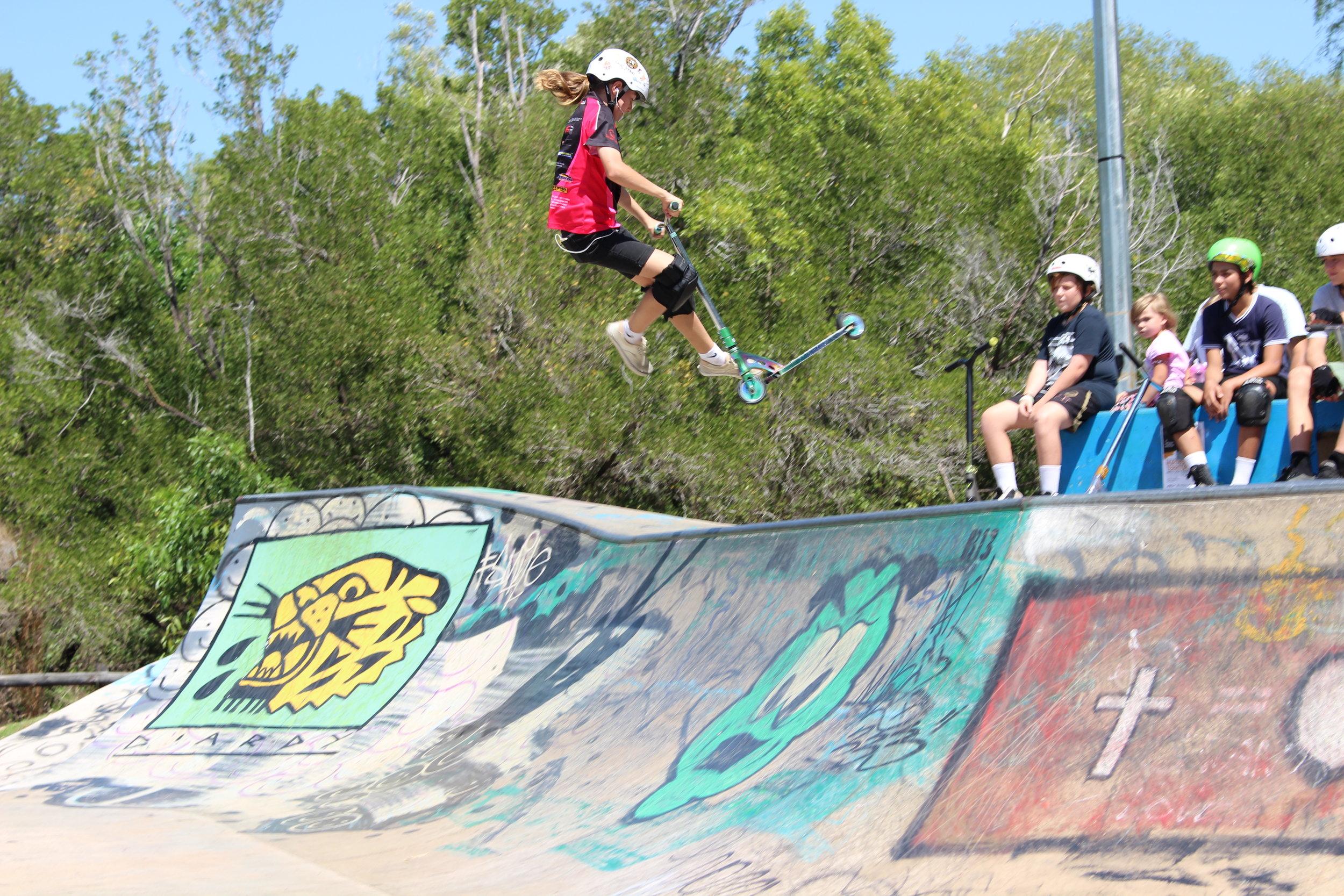 Chloe Littler at Jingili Water Gardens Skate Park