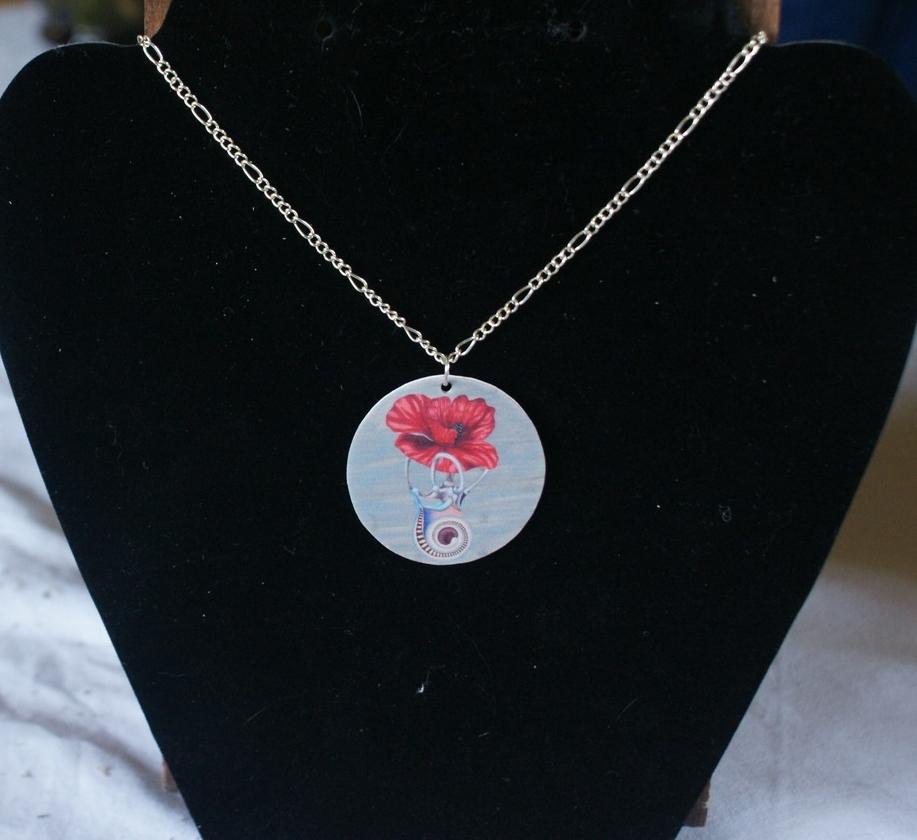 """""""Poppy"""" wearable art print"""