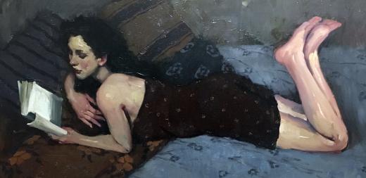 Woman Reading by  Malcon T. Liepke