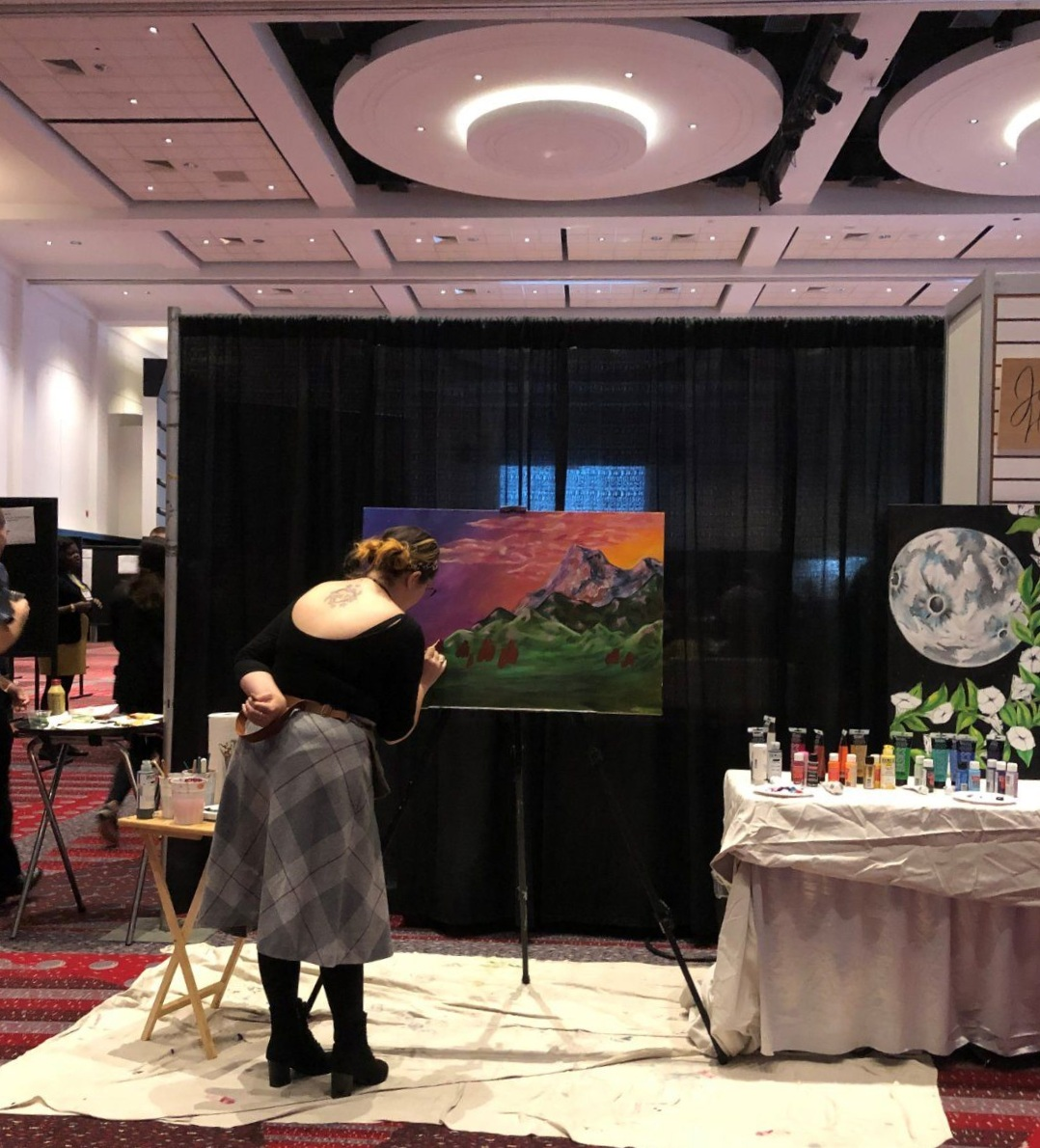 Painting live at the Colorado Convention Center for AiR Forum 2019