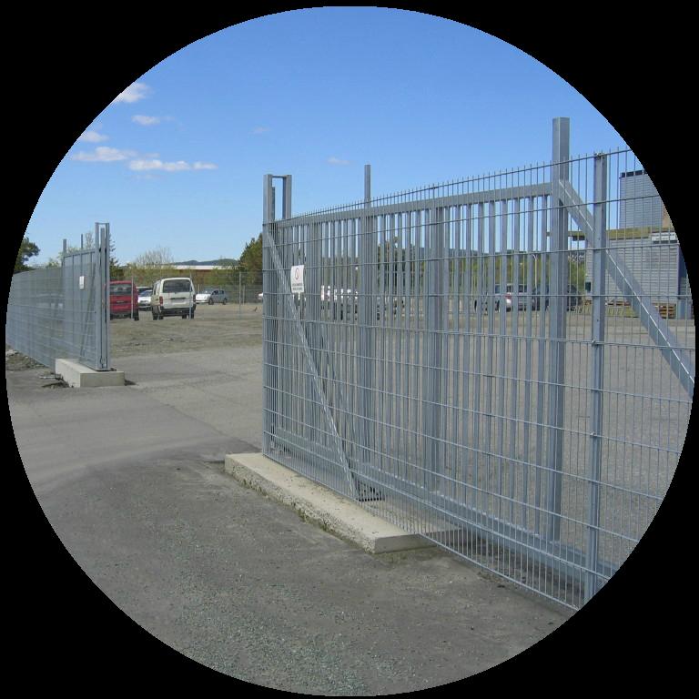 Manuelle skyveporter er optimalt for plasser med lite trafikk og behov for å avstenge