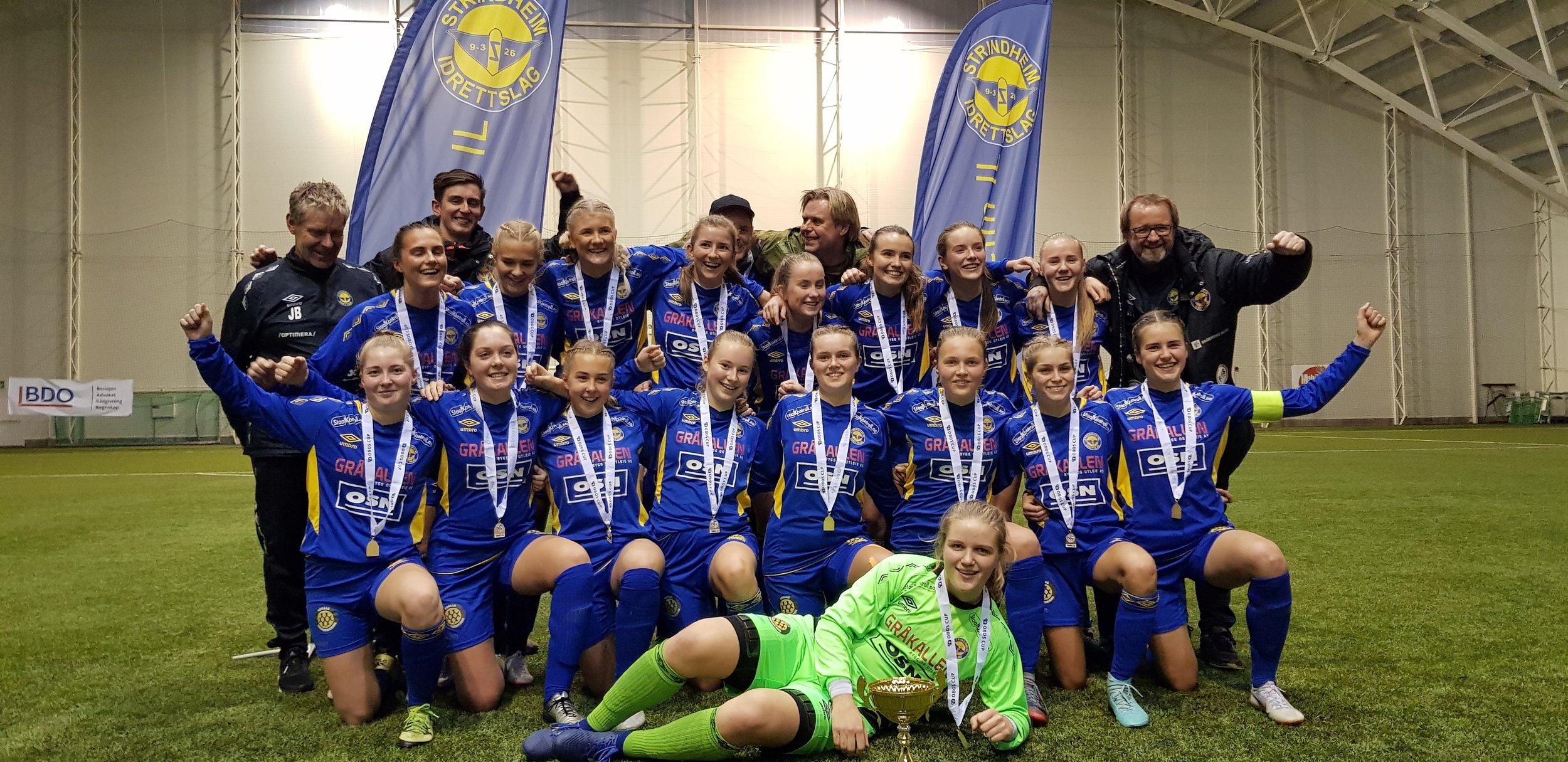 Strindheim Kvinner Fotball - vant senest 28.10.18 OBOS cupen. I fjor vant de også den gjeve Norway Cupen :-)