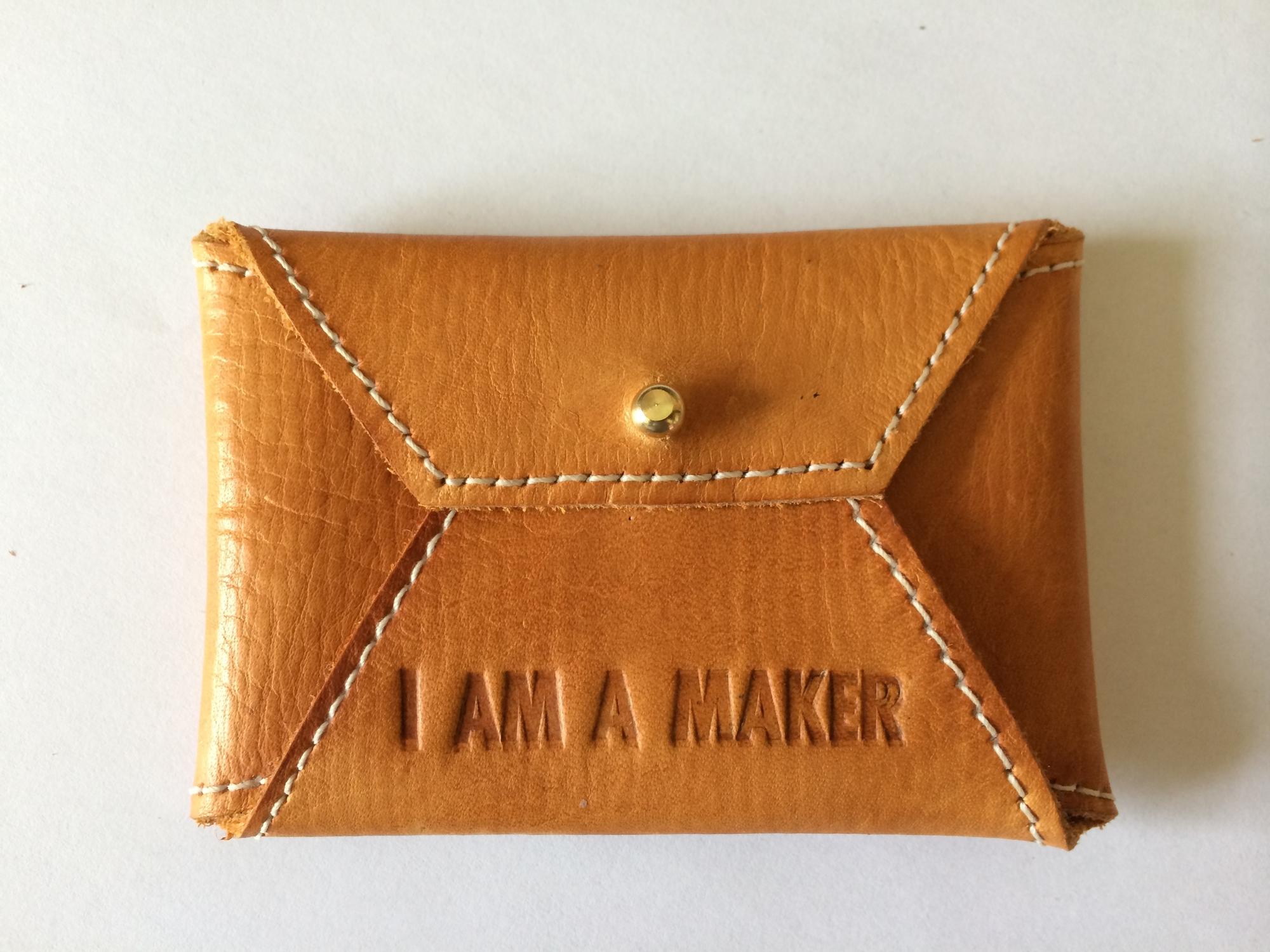 Leather business card wallet  ©FizzArrow