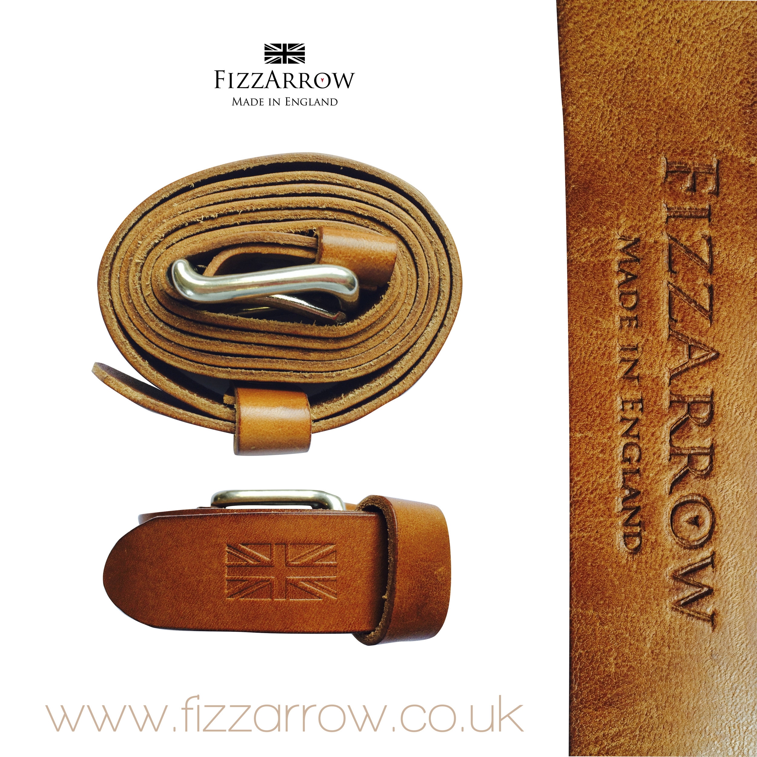 Small leather belt with Nickel buckle ©FizzArrow