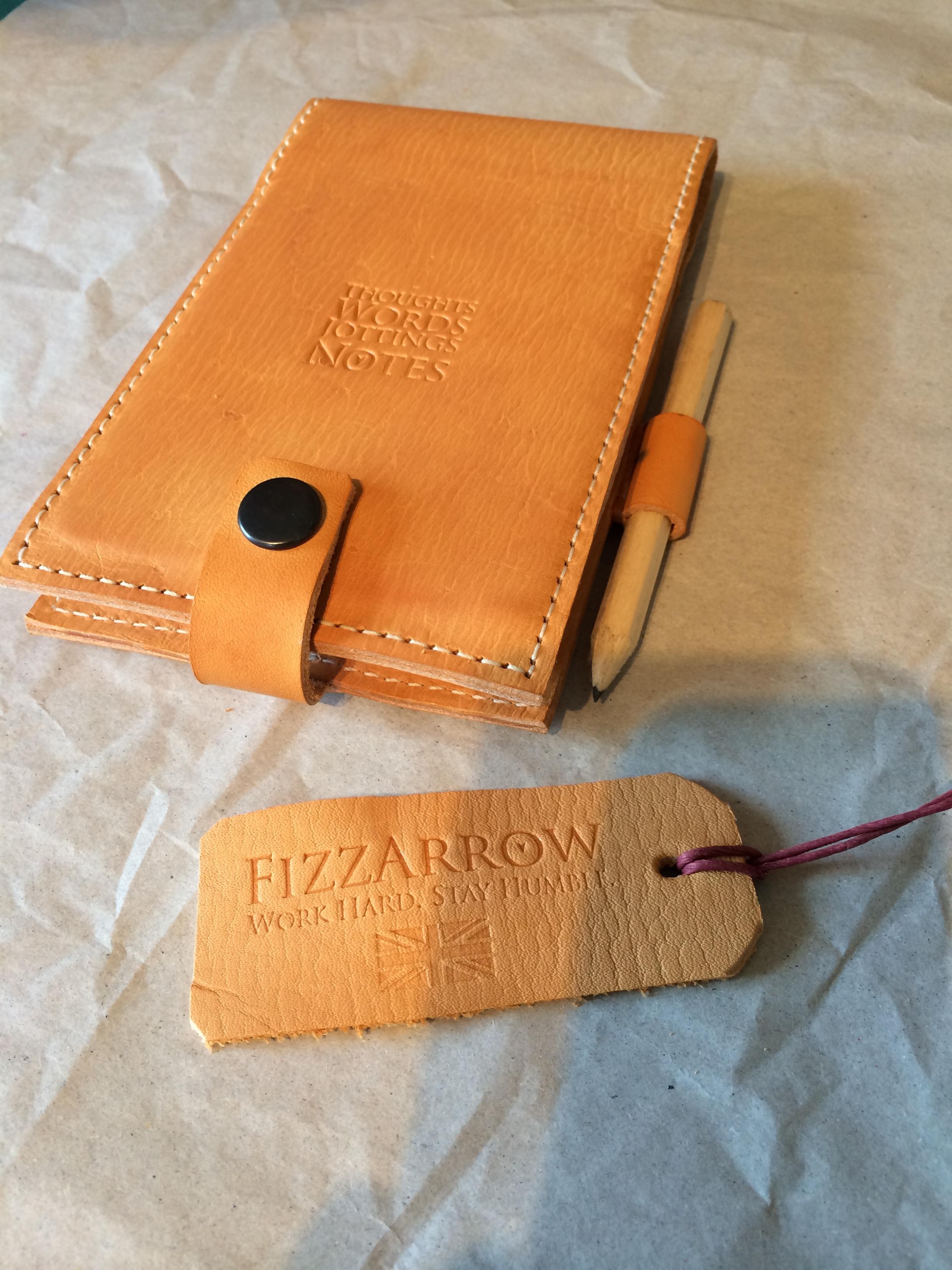 Leather flip notebook cover  ©FizzArrow