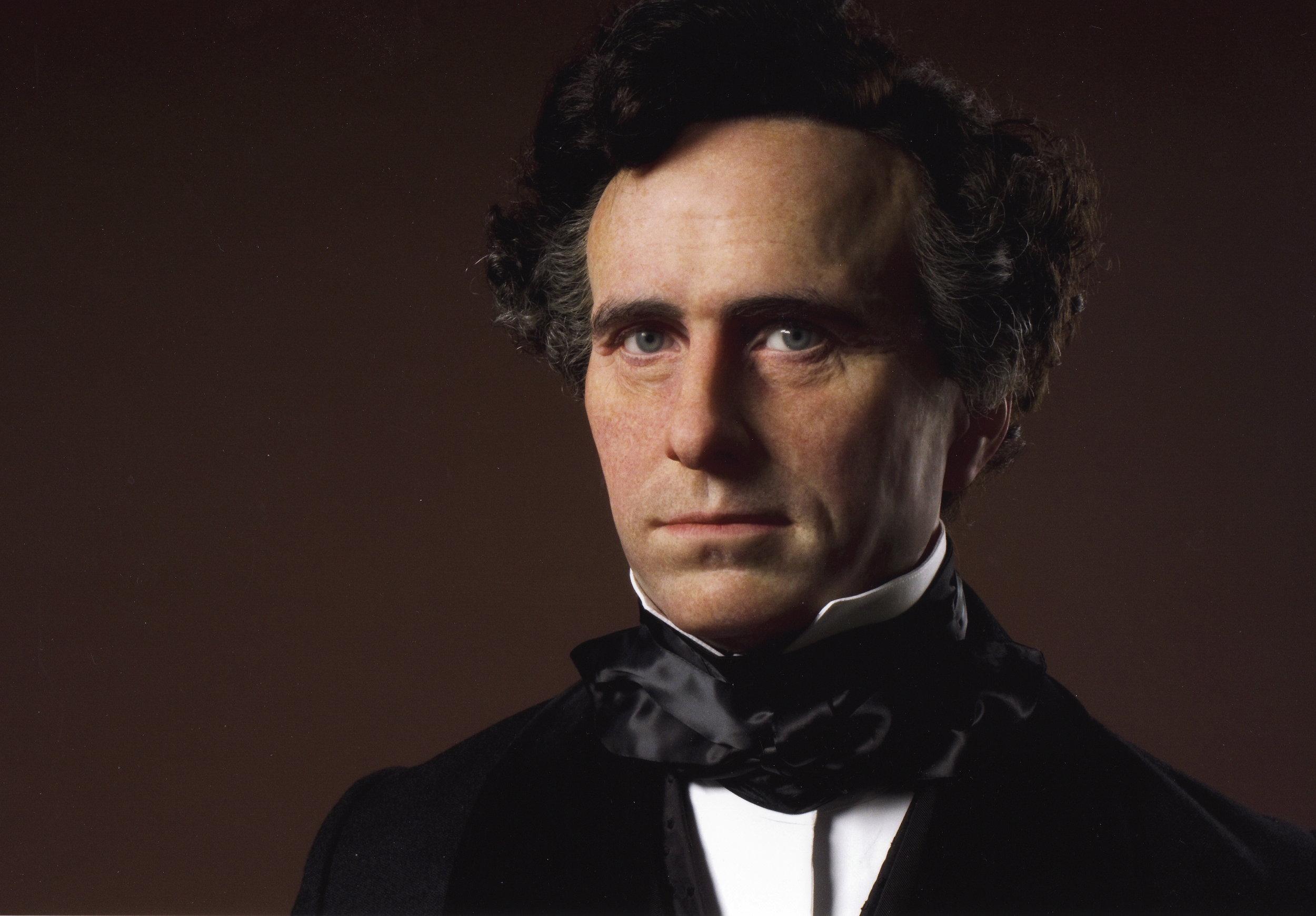 Franklin Pierce waxwork portrait