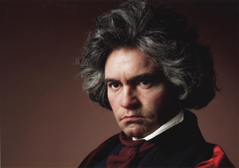 Beethoven Wax Portrait Sculpture