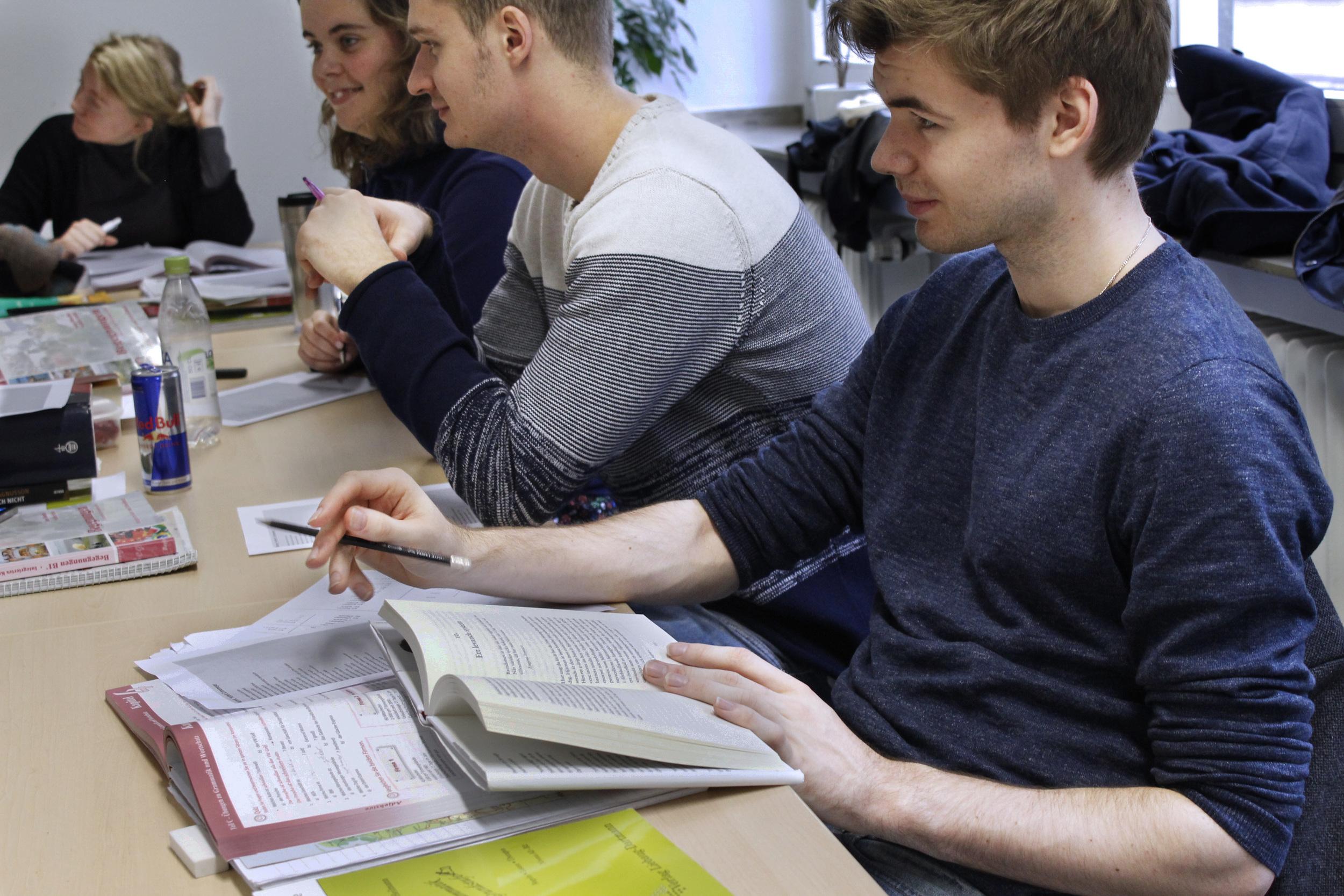 Flitiga kursdeltagare i grupp A på Tyska i praktiken.