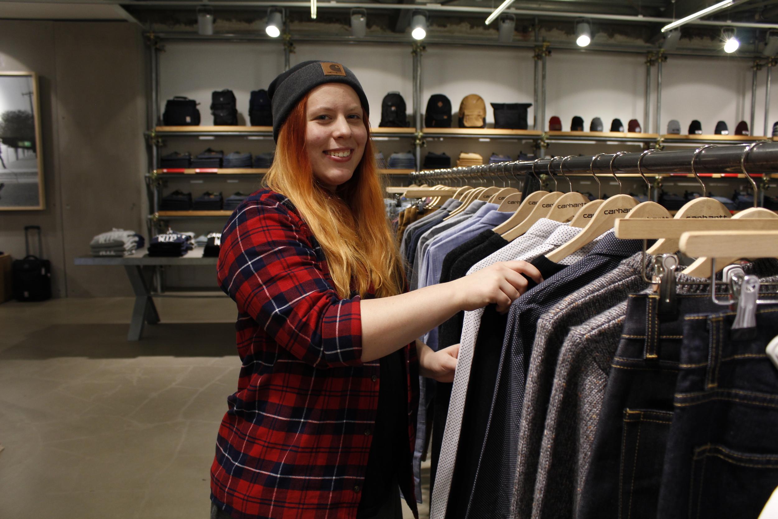 Evelina från Kungstensgymnasiet tillbringartre veckorpå klädbutiken Carhartt.