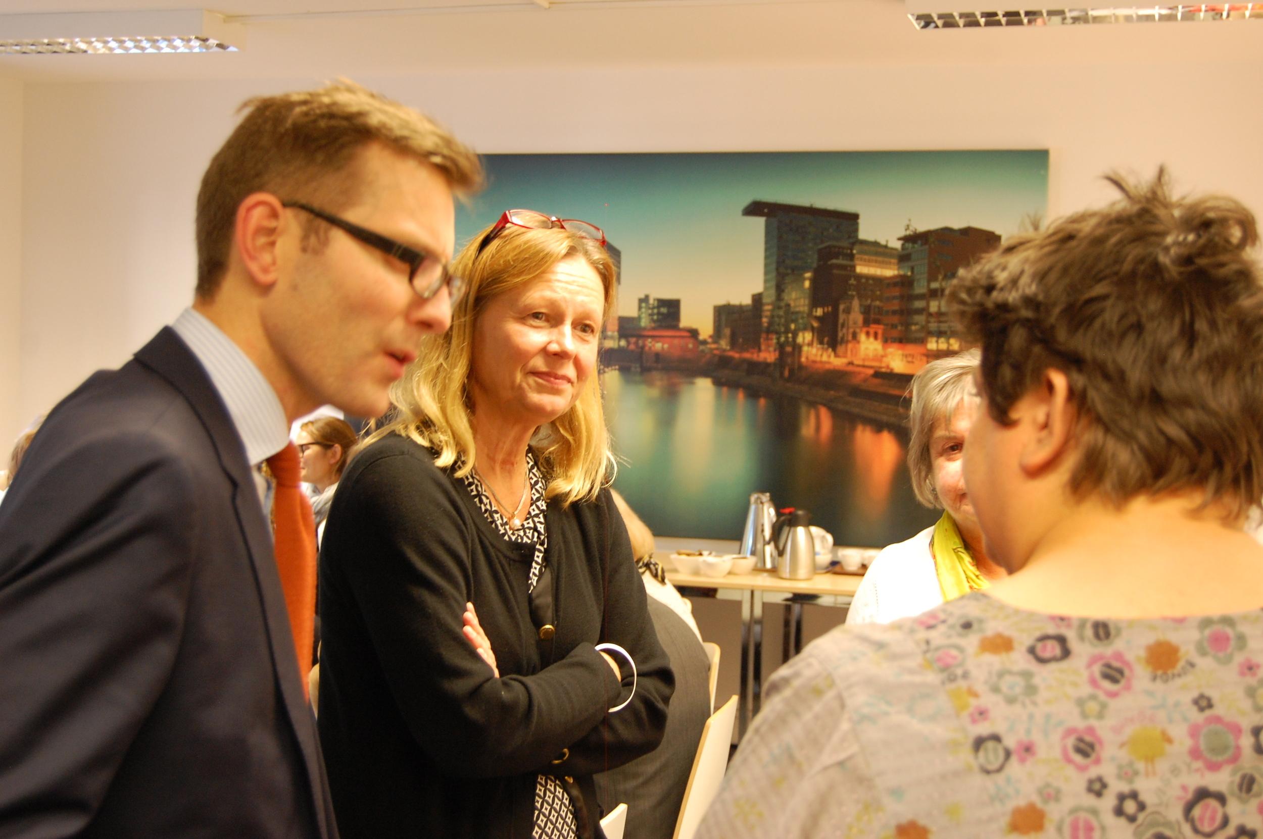 Stiftelsens chef Kicki Emanuelsson var på plats