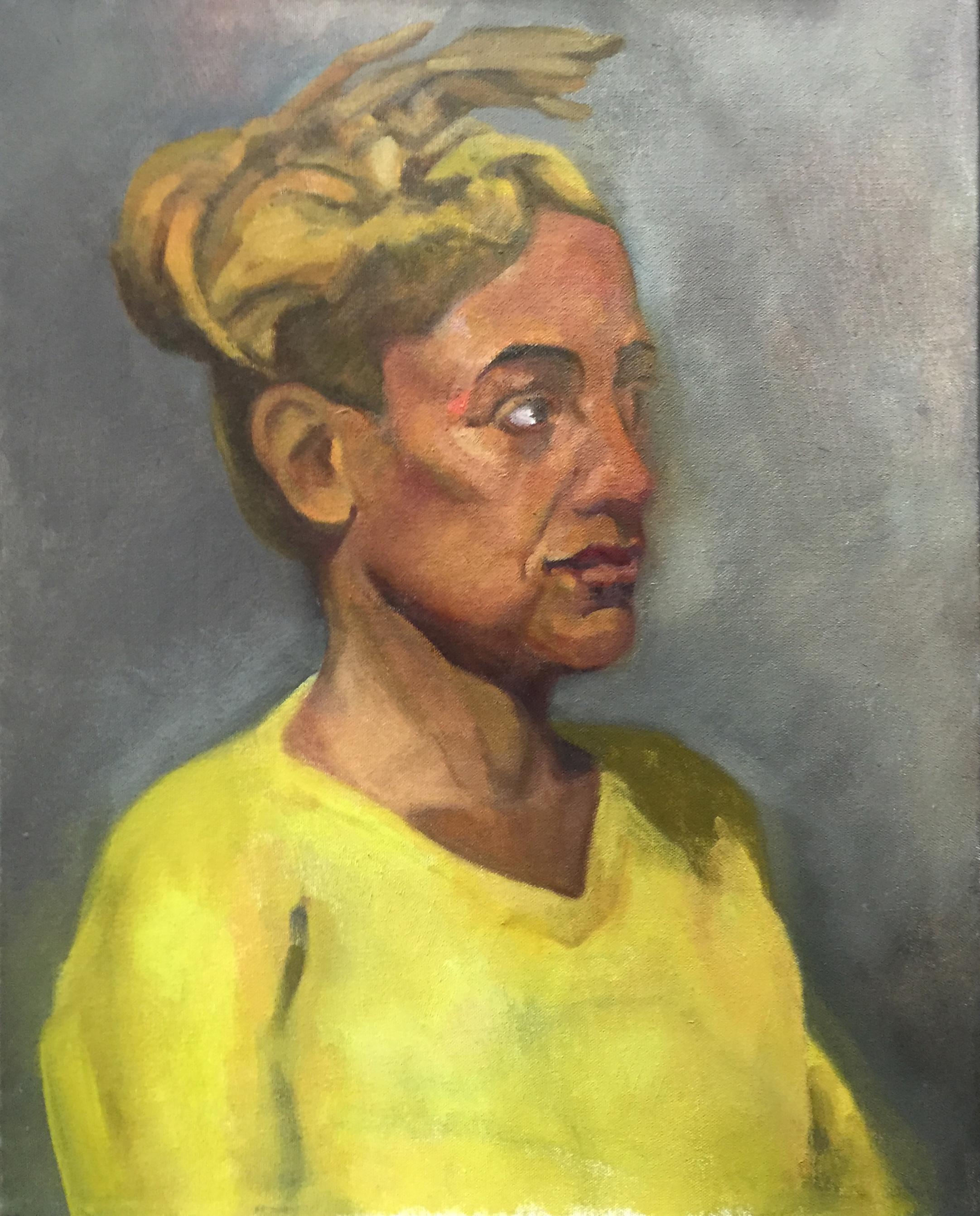"Dreadlocks (16"" x 20""): 2016 – Oil on Canvas"