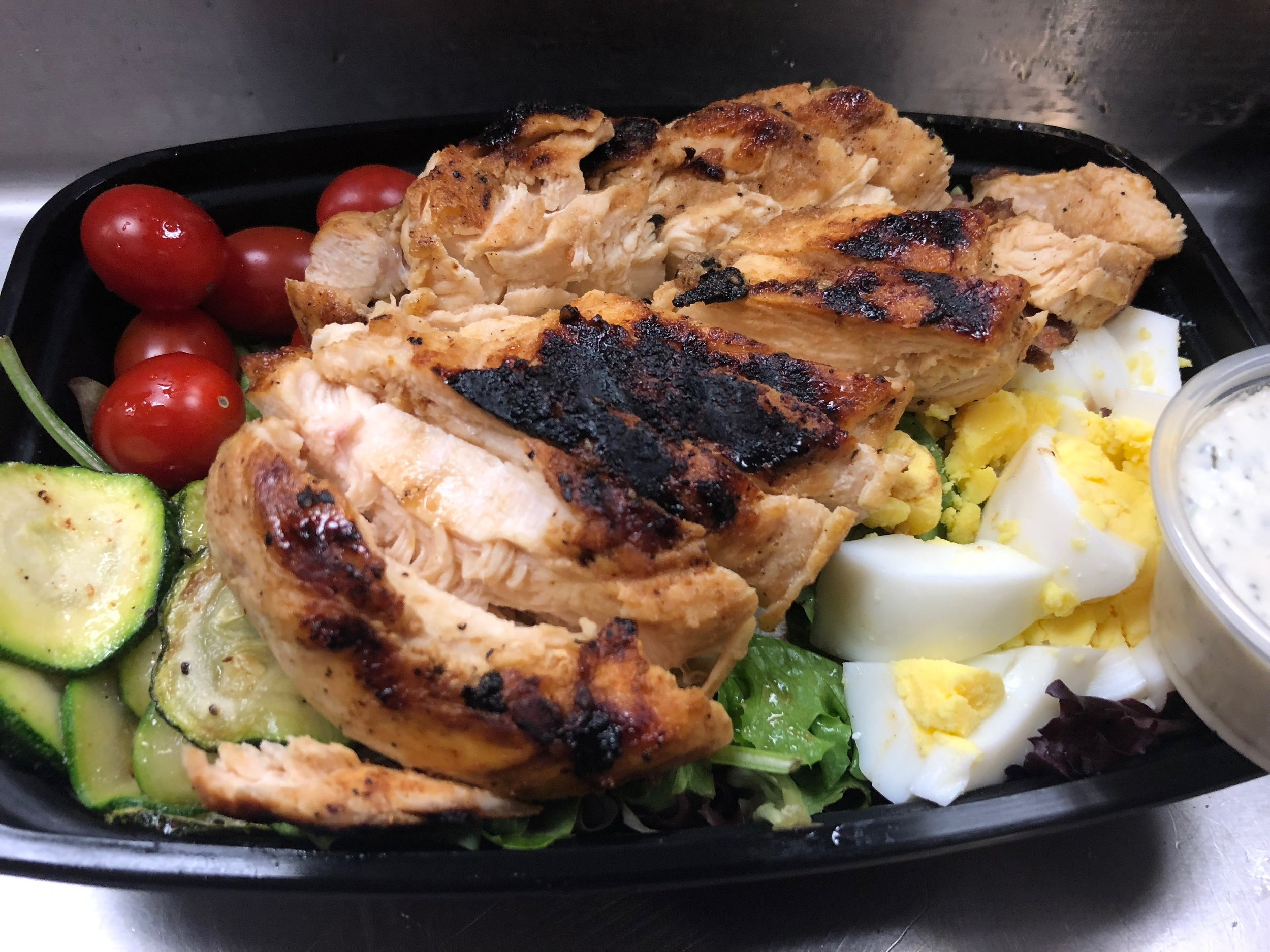 Chicken Cobb Salad with homemade ranch dressing