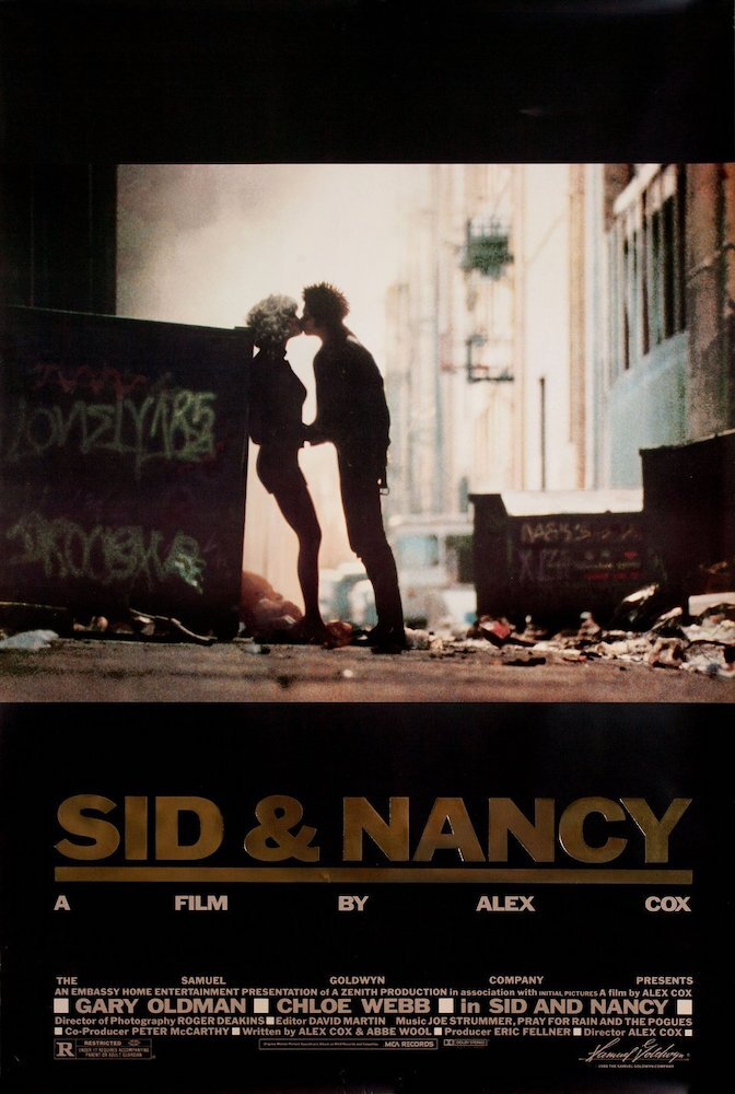 SID & NANCY (Cox, 1986) - Original U.S One-Sheet (Gold Foil Edition)