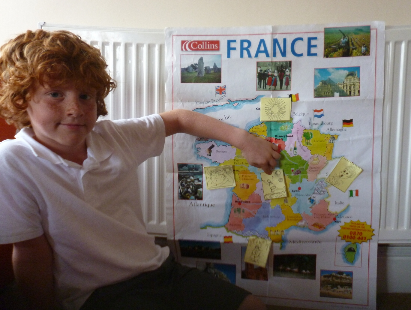 Voici la metéo (here is the weather forecast) at Fun French for children session at my house. Summer 2014