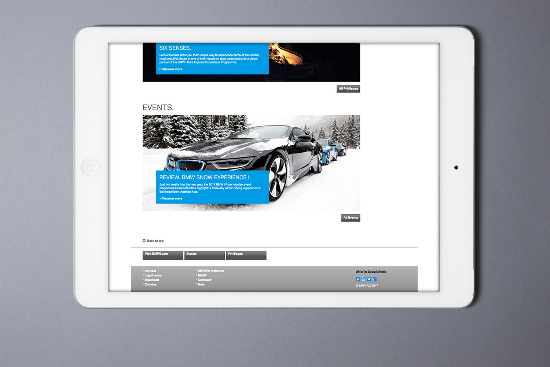 BMW i Pure Impulse, Kundenportal für BMW i 8 Fahrer