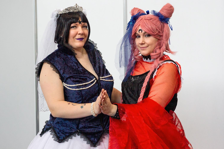 Sailor Moon Duo: Mistress Neun und Black Lady, beide in selbstkreierter Ballversion