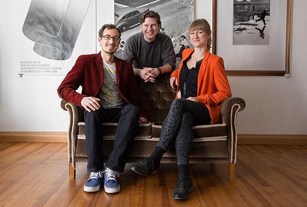 Gründerteam (vlnr): Bernhard Scholz, Erich Seifert und Julia Köberlein