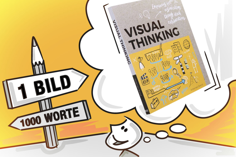 """Das Cover des Buches """"Visual Thinking"""" von Willemien Brand, erschienen bei BIS Publishing.  Grafik: Florian Wagner"""