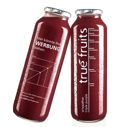 """true fruits: Flaschentext """"hier könnte Ihre Werbung stehen"""" …"""
