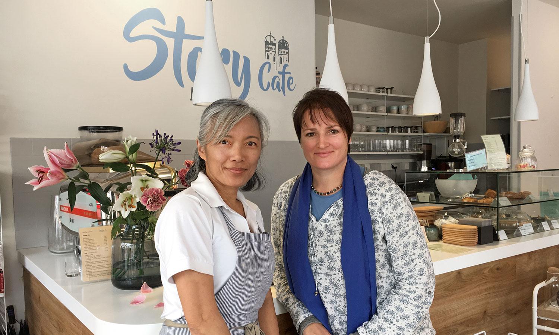 Ich bedanke mich bei Charlene Chang für eine schöne Zeit in ihrem Story Cafe.