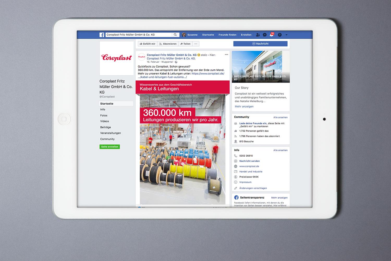 Coroplast, Social Media, Facebook