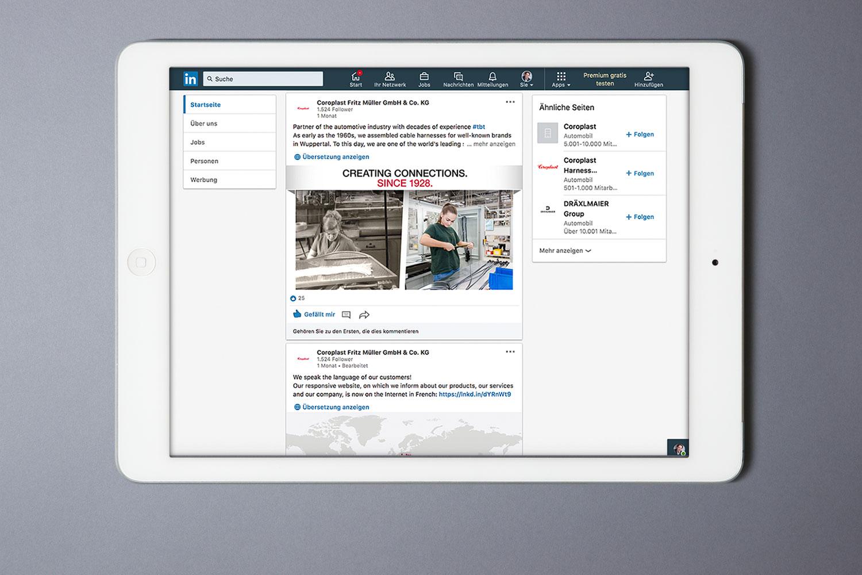 Coroplast, Social Media, linked-in